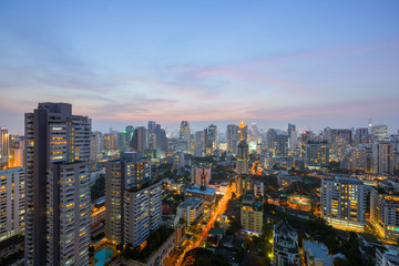 Bangkok au crépuscule, Thaïlande