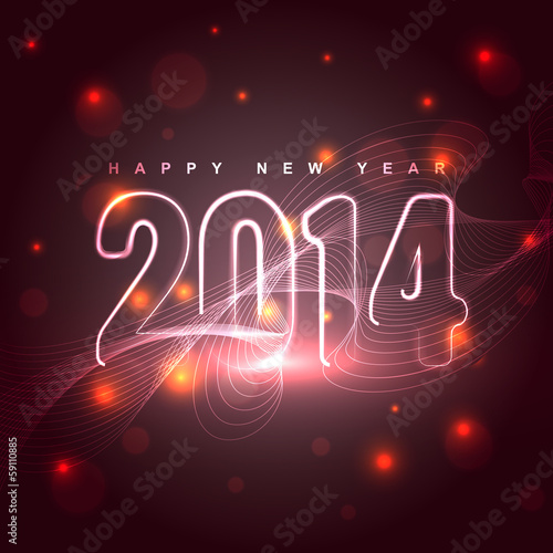 glowing new year design
