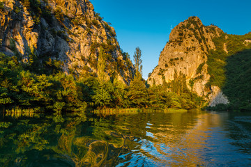 Sunset at Canyon of the River near Split, Croatia