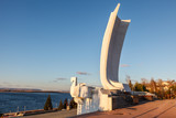 Stella Rook on Volga River Embankment in Samara, Russia