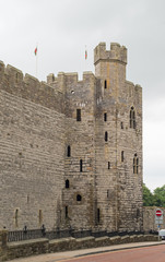 Caernarfon castle tower (Wales, UK)