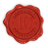Wax Stamp anniversary 10th (clipping path included)
