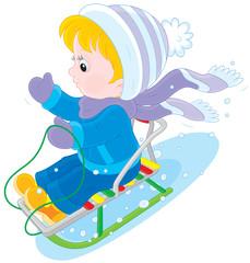 Child sleighing