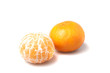 Fresh mandarin isolated on white background