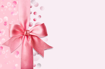 Delicate background with bow