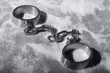 hard steel handcuffs or cuffs