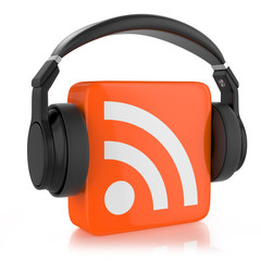 RSS  logo and headphone.