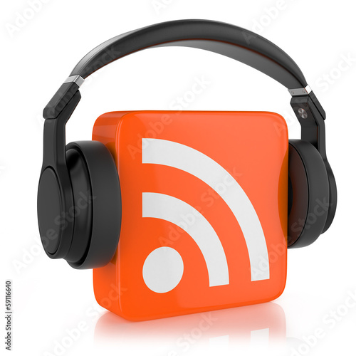 RSS  logo and headphone.