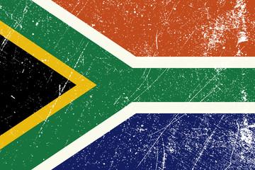 Drapeau Sud Africain vintage