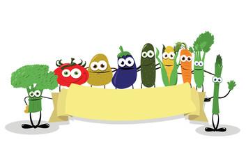 Funny Veggies Banner