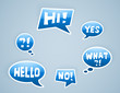 vector blue speech bubbles