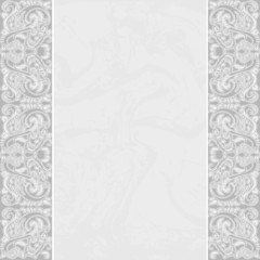 Elegant Card with a floral lace border