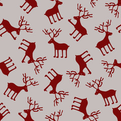 Seamless pattern of deers