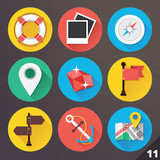 Vector Icons for Web and Mobile Applications. Set 11.