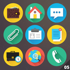 Vector Icons for Web and Mobile Applications. Set 5.