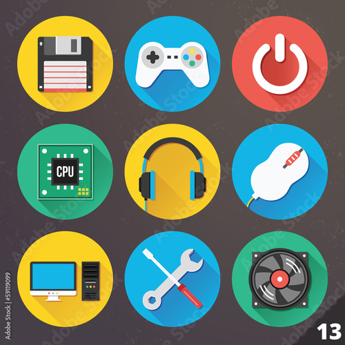 Vector Icons for Web and Mobile Applications. Set 13.
