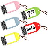 Set of tags for Christmas holidays sale discounts
