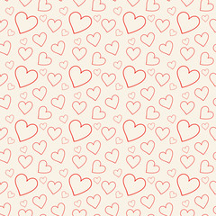 Lovely pink background with hearts