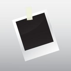 Photo frame with scotch tape