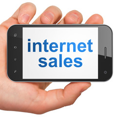 Marketing concept: Internet Sales on smartphone