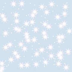 Snowflakes winter background