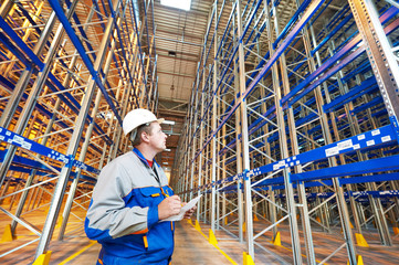 warehouse worker in storehouse