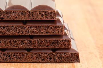 porous black chocolate
