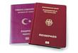 Reisepässe Türkei und Deutschland