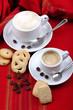 Cappuccino e espresso a colazione