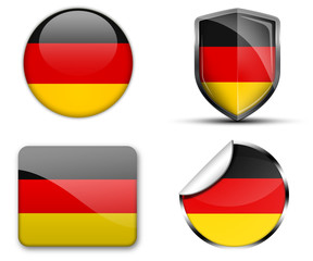 Germany flag button sticker and badge