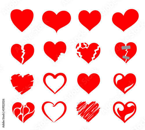 vector hearts icon set - 59122026