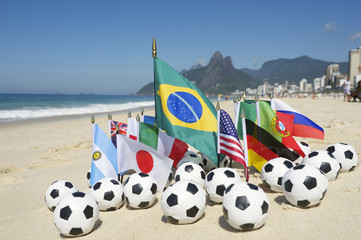 Soccer World Cup 2014 Brazil International Team Flags Rio