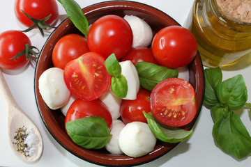 Tomate und Mozzarella