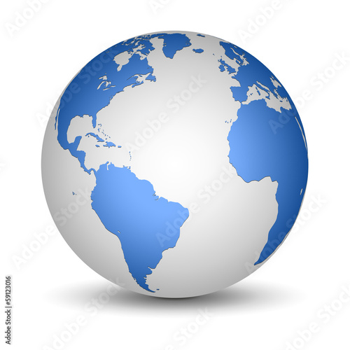 White and Blue globe