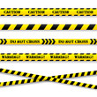 Set of caution tapes. Vector illustration. - 59123227