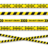 Fototapety Set of caution tapes. Vector illustration.