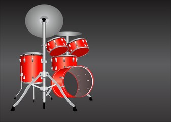 Vector drum illustration