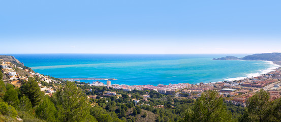 Javea panoramic in Alicante aerial view Valencian Community spai