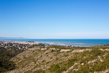 denia in Alicante aerial view Valencian Community of spain
