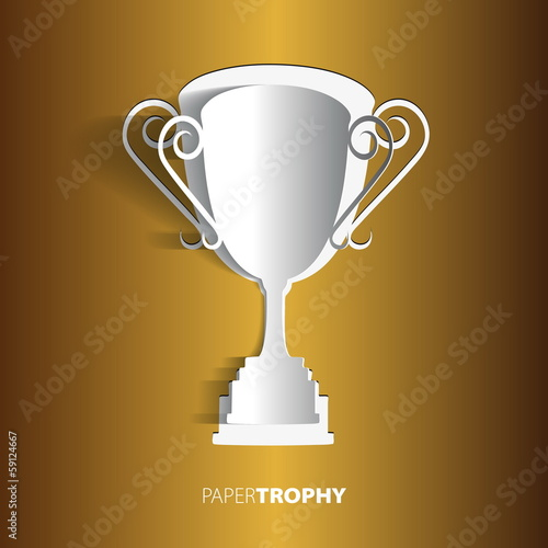Paper trophy with space for your text - vector