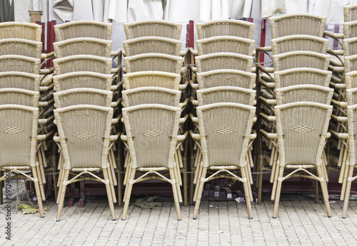 Wicker bar chairs