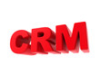 CRM - Red Text Isolated on White.
