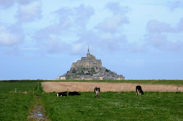 France, picturesque Mont Saint Michel