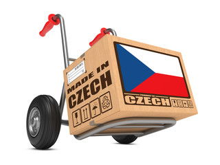 Made in Czech - Cardboard Box on Hand Truck.