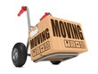 Moving - Cardboard Box on Hand Truck.