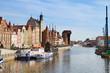 Motlawa river embankment, Gdansk