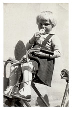 tricycle girl - photo scan - about 1945