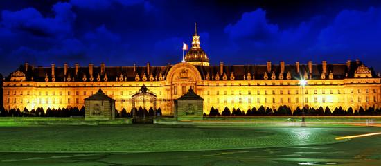 Les Invalides at night - Paris, France.