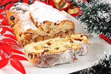 Christmas stollen cake