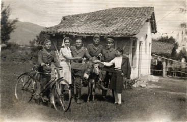 soldiers and villagers - circa 1940